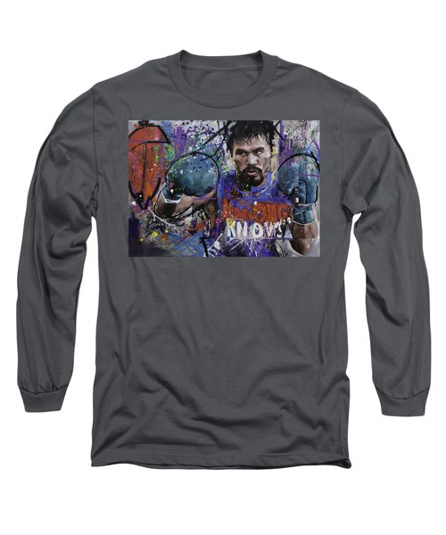 Manny Pacquiao Long Sleeve T-Shirt by Richard Day