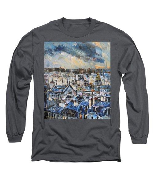 Mansards In Blue Long Sleeve T-Shirt