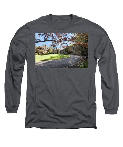 Mansion At Ridley Creek Long Sleeve T-Shirt by Judy Wolinsky