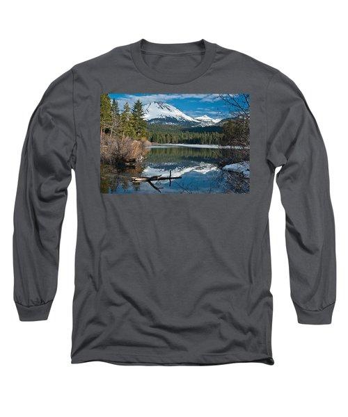Manzanita Lake Reflects On Mount Lassen Long Sleeve T-Shirt