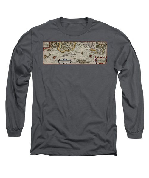 Map Of Sweden 1606 Long Sleeve T-Shirt by Andrew Fare