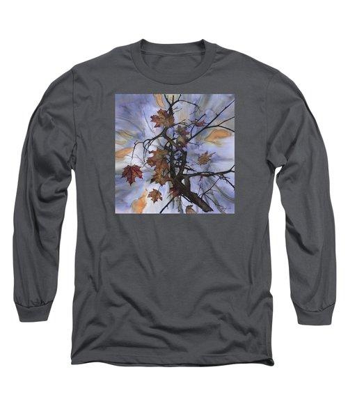 Maple Autumn Splash Long Sleeve T-Shirt by Carolyn Doe