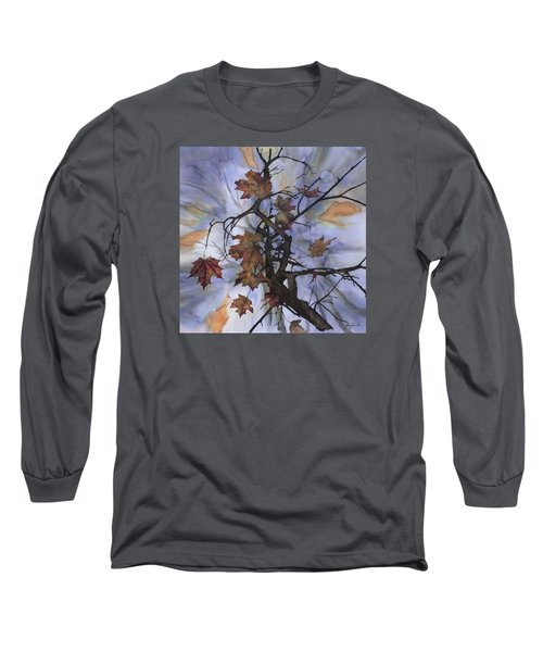 Maple Autumn Splash Long Sleeve T-Shirt