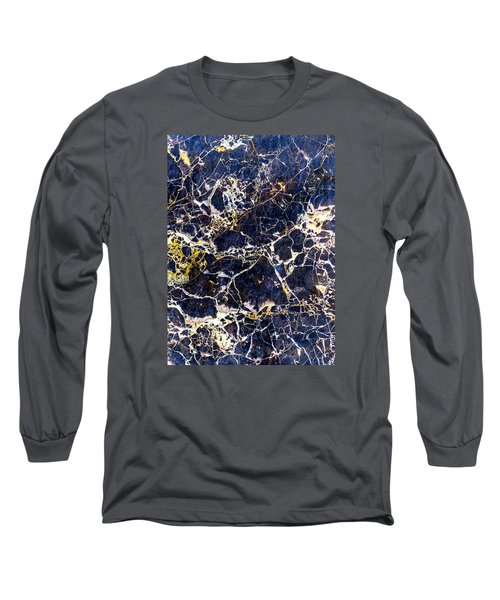 Marble Stone Texture Wall Tile Long Sleeve T-Shirt by John Williams