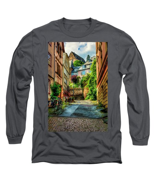 Long Sleeve T-Shirt featuring the photograph Marburg Alley by David Morefield