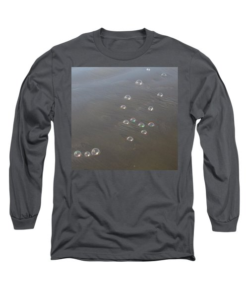 Long Sleeve T-Shirt featuring the photograph March Of The Bubbles by Marie Neder