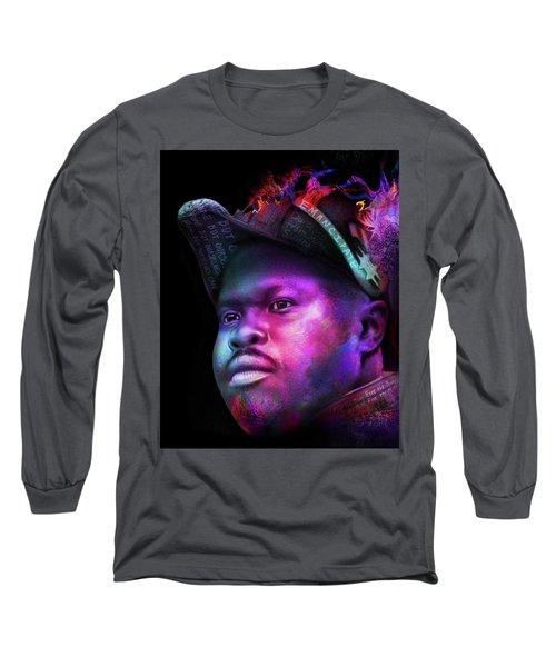 Marcus Garvey Portrait Long Sleeve T-Shirt