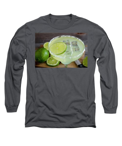 Long Sleeve T-Shirt featuring the photograph Margarita Close Up by Teri Virbickis