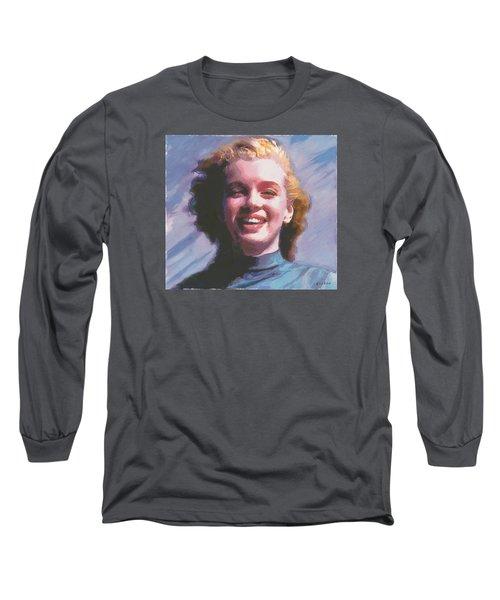 Long Sleeve T-Shirt featuring the digital art Marilyn by David Klaboe