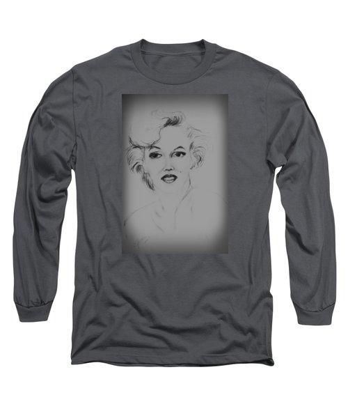 Marilyn Monroe Long Sleeve T-Shirt by Edgar Torres