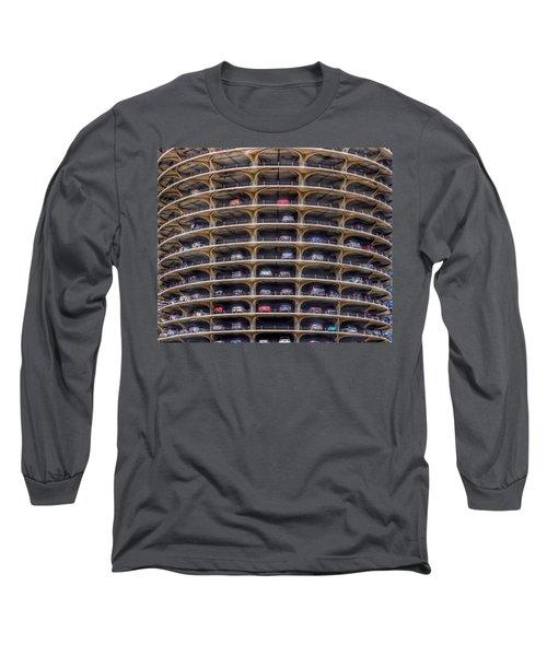 Marina City Chicago Long Sleeve T-Shirt