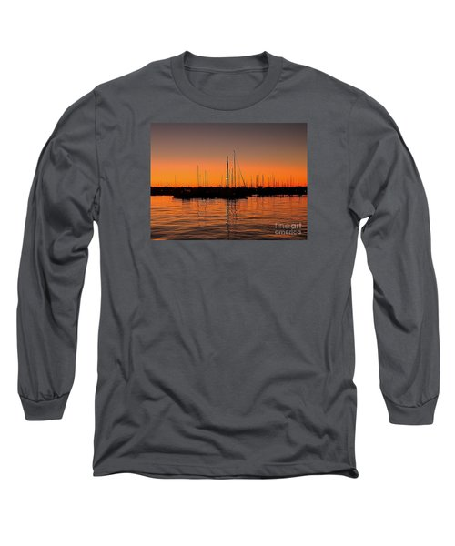 Marina Moonlight Masts Long Sleeve T-Shirt