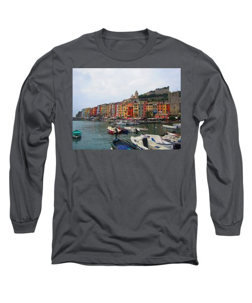 Long Sleeve T-Shirt featuring the photograph Marina Of Color by Christin Brodie
