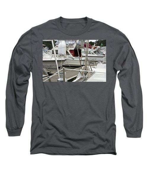 Long Sleeve T-Shirt featuring the photograph Marina Stuff by Yurix Sardinelly