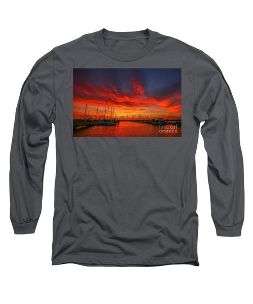 Marina Sunrise - Ft. Pierce Long Sleeve T-Shirt