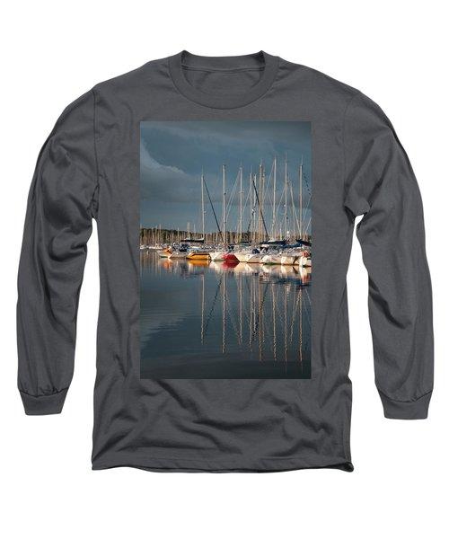 Marina Sunset 8 Long Sleeve T-Shirt