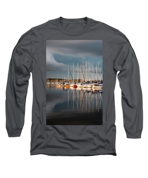 Marina Sunset 9 Long Sleeve T-Shirt