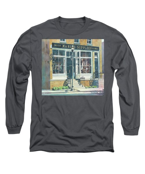 Marine Supply Store Long Sleeve T-Shirt by LeAnne Sowa