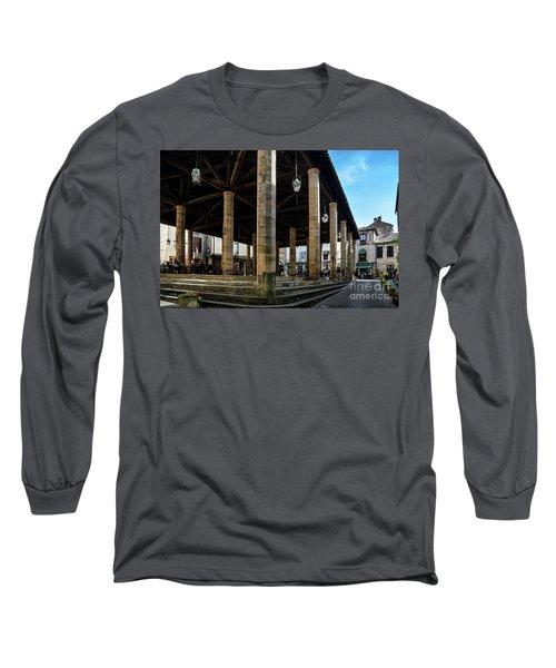 Market Hall Of Cordes-sur-ciel Long Sleeve T-Shirt by RicardMN Photography