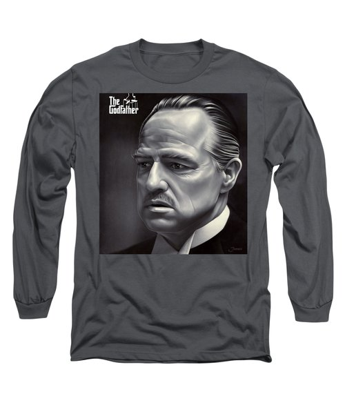 Marlon Brando Drawing  Long Sleeve T-Shirt