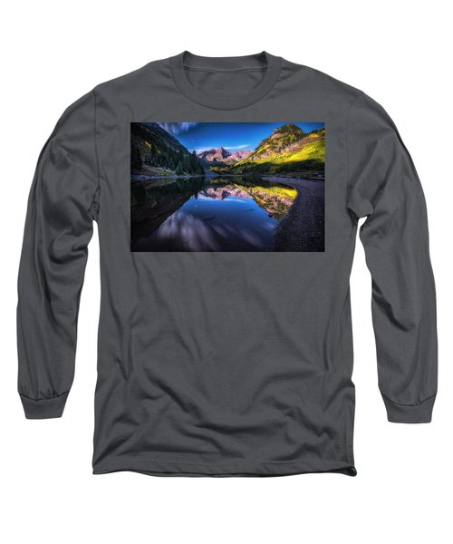 Maroon Bells By Moonlight Long Sleeve T-Shirt