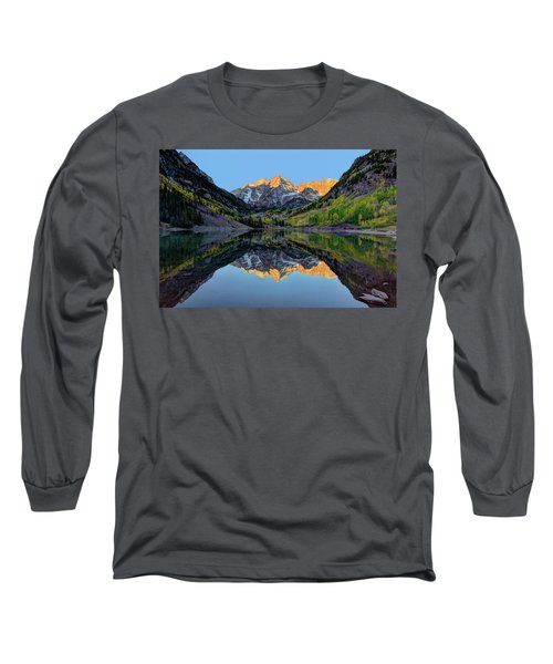 Maroon Bells Sunrise Long Sleeve T-Shirt