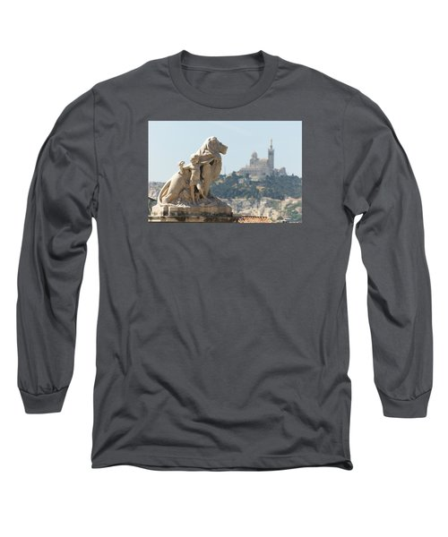 Marseille-saint-charles Statue, France Long Sleeve T-Shirt