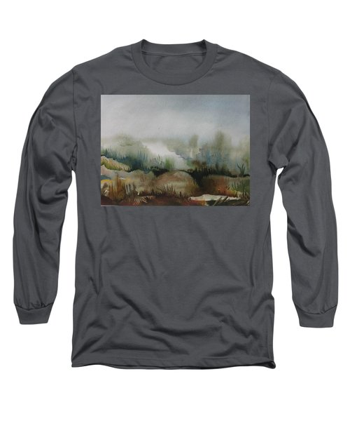 Long Sleeve T-Shirt featuring the painting Marsh by Anna  Duyunova