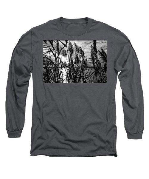 Marsh Grass Bw Long Sleeve T-Shirt