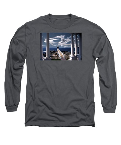 Marshall Point Lighthouse Maine Long Sleeve T-Shirt by Skip Willits