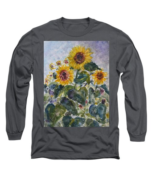 Martha's Sunflowers Long Sleeve T-Shirt