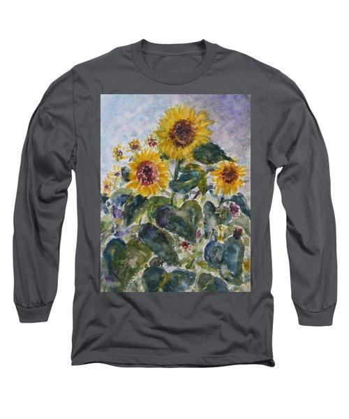 Martha's Sunflowers Long Sleeve T-Shirt by Quin Sweetman