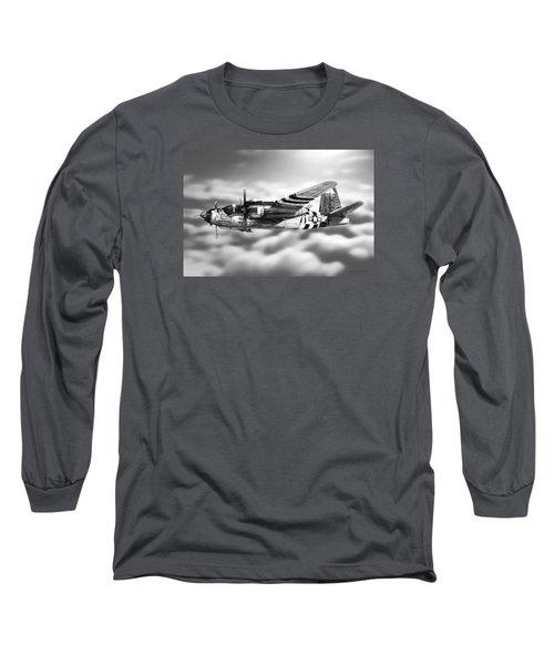 Martin B-26 Marauder Drawing Long Sleeve T-Shirt by Douglas Castleman