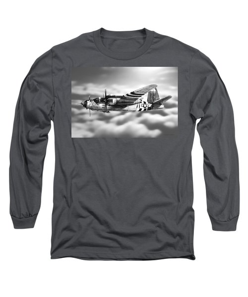 Martin B-26 Marauder Drawing Long Sleeve T-Shirt