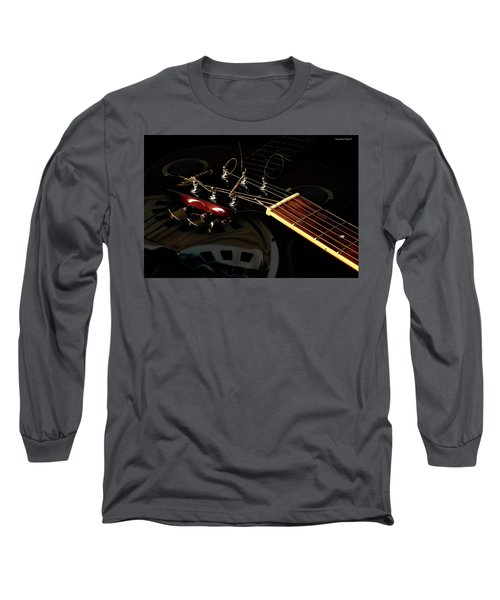 Martinez Guitar 003 Long Sleeve T-Shirt by Kevin Chippindall