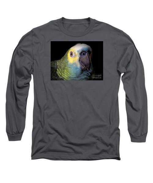 Marty The Blue Front Amazon Long Sleeve T-Shirt by Melissa Messick