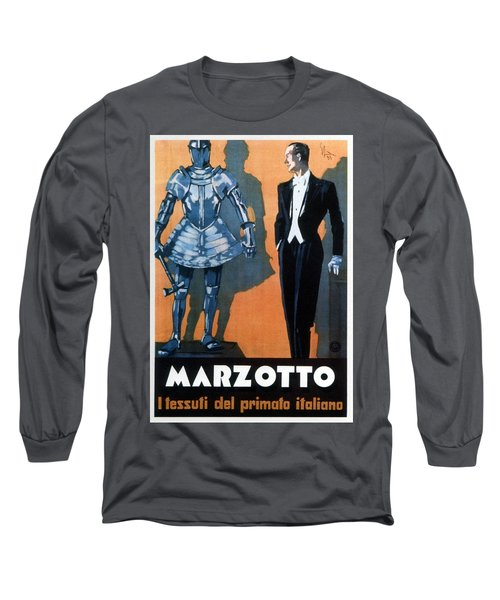 Marzotto - Italian Textile Company - Vintage Advertising Poster Long Sleeve T-Shirt