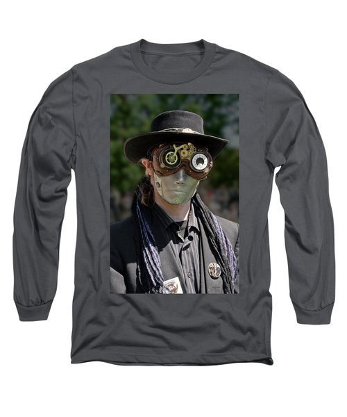Masked Man - Steampunk Long Sleeve T-Shirt by Betty Denise