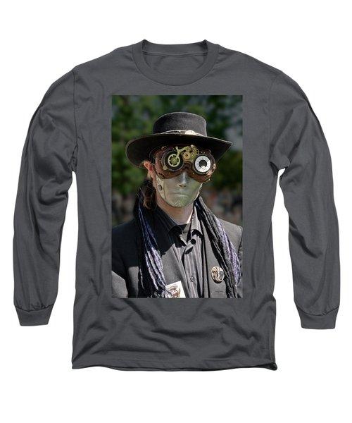 Masked Man - Steampunk Long Sleeve T-Shirt