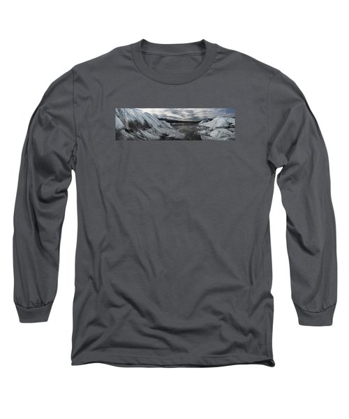 Matanuska Glacier Panorama Long Sleeve T-Shirt