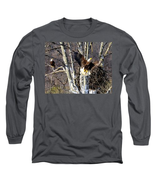 Mating Pair At Nest Long Sleeve T-Shirt