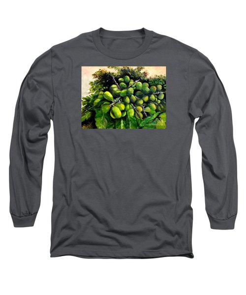 Long Sleeve T-Shirt featuring the painting Matoa Fruit by Jason Sentuf