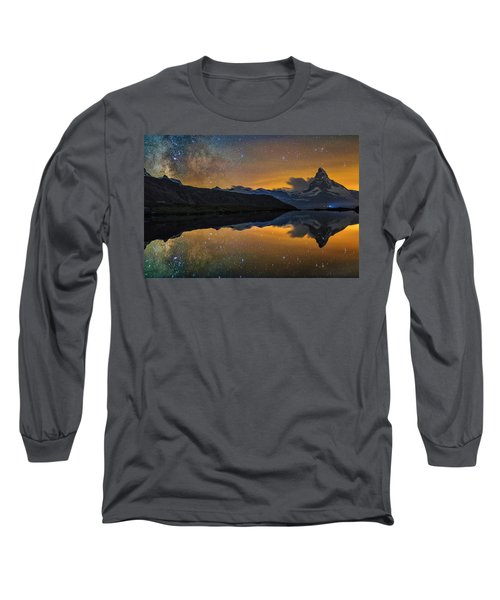Matterhorn Milky Way Reflection Long Sleeve T-Shirt