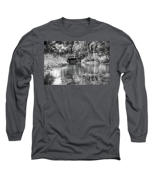 Matthaei Botanical Gardens Black And White Long Sleeve T-Shirt by Pat Cook