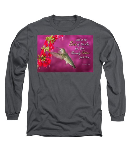 Matthew 6 26 Long Sleeve T-Shirt