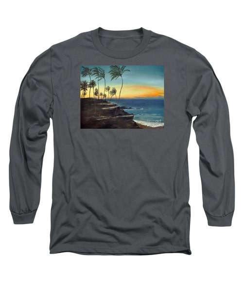 Long Sleeve T-Shirt featuring the painting Maui by Carol Sweetwood