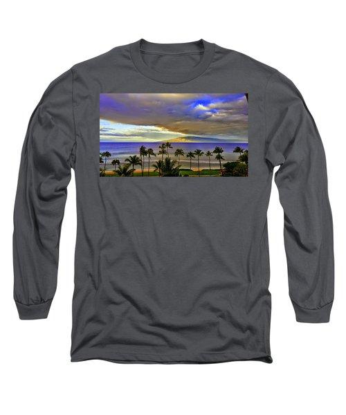 Maui Sunset At Hyatt Residence Club Long Sleeve T-Shirt