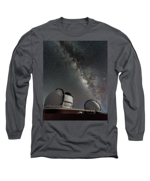 Long Sleeve T-Shirt featuring the photograph Mauna Kea Night by Allen Biedrzycki