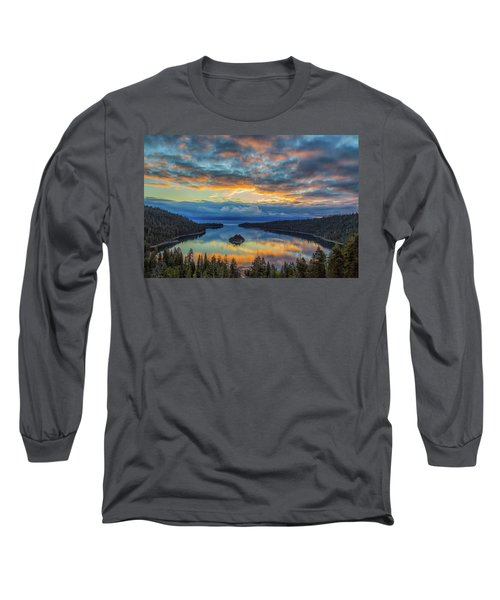 May Sunrise At Emerald Bay Long Sleeve T-Shirt by Marc Crumpler