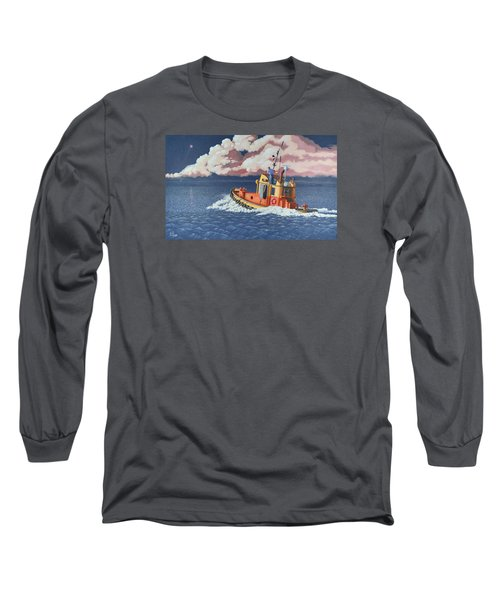 Long Sleeve T-Shirt featuring the painting Mayday- I Require A Tug by Gary Giacomelli